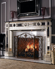 french film star fireplace
