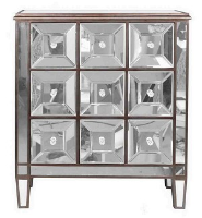 french film star mirrored cabinet