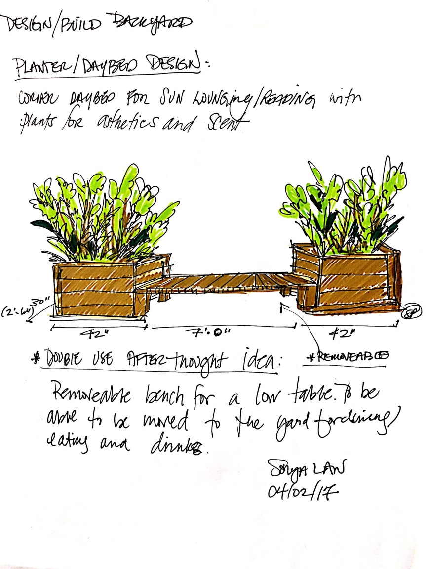 When you just need to lounge…Outdoor daybed and planter project.